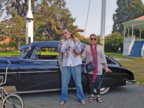 Progressive Zionists of California organizers Matthew Finkelstein and Susan George of Vallejo.