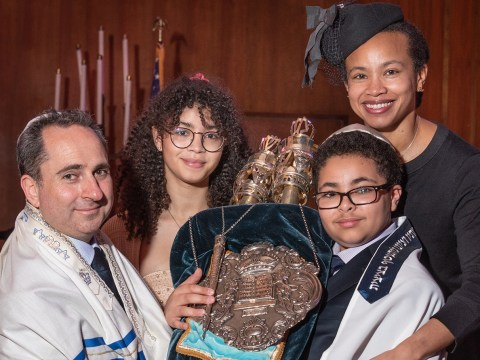 Marcella Campbell and family at her son's bar mitzvah in 2018. (Photo/Courtesy Campbell)