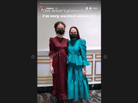 Ella Emhoff (left) with Kamala Harris' niece Meena Harris before the inauguration, Jan. 20, 2021. (Photo/Meena Harris-Instagram)
