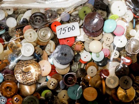 Some of the vast collection of buttons that will be part of the memorial.