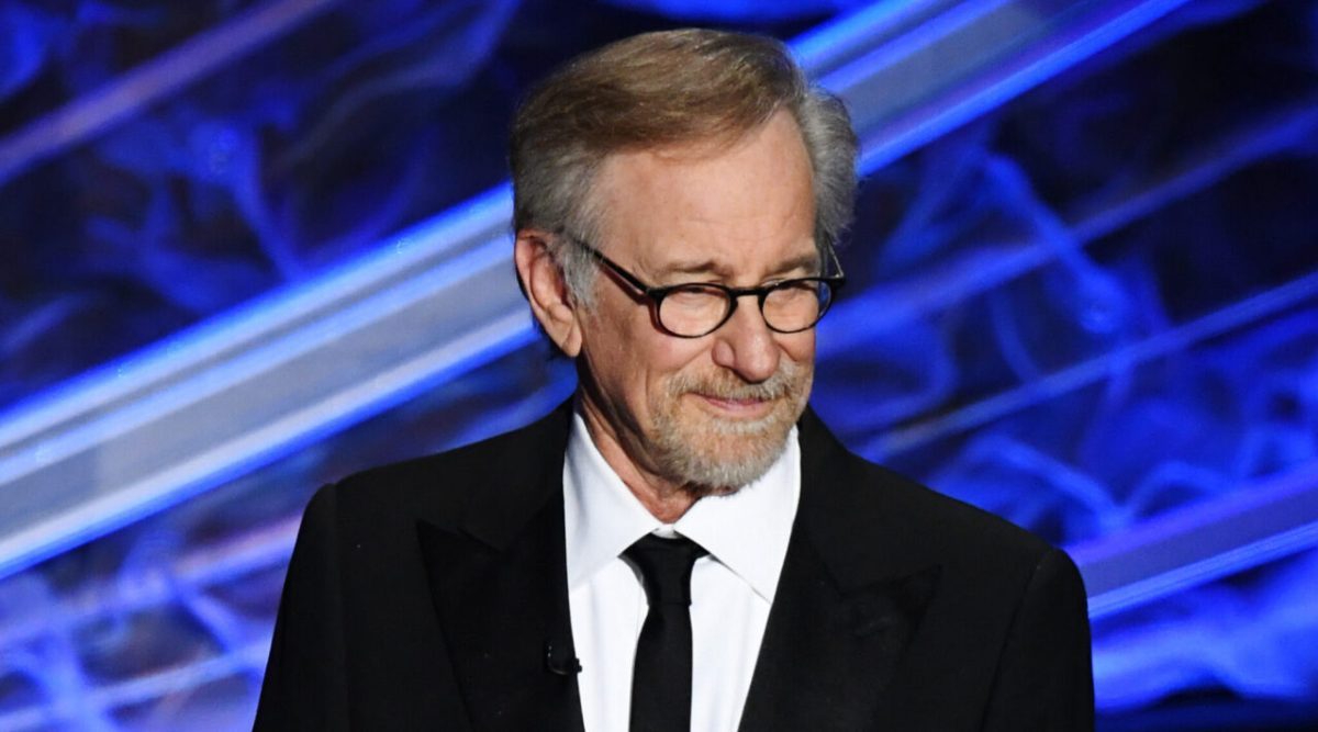 Director Steven Spielberg speaks onstage during the Academy Awards, Feb. 9, 2020. (Photo/JTA-Kevin Winter/Getty Images)