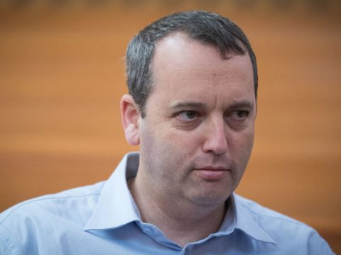 Rabbi Gilad Kariv awaits an Israeli Supreme Court hearing in Jerusalem over public transportation on Shabbat, Sept. 11, 2017. (Photo/JTA-Yonatan Sindel-Flash90)