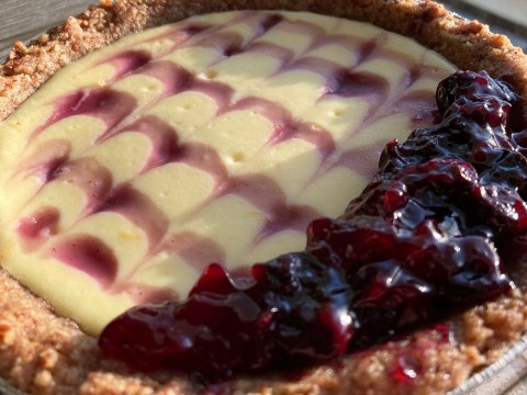 Laya Cooperman's gluten-free blueberry cheesecake with pecan crust