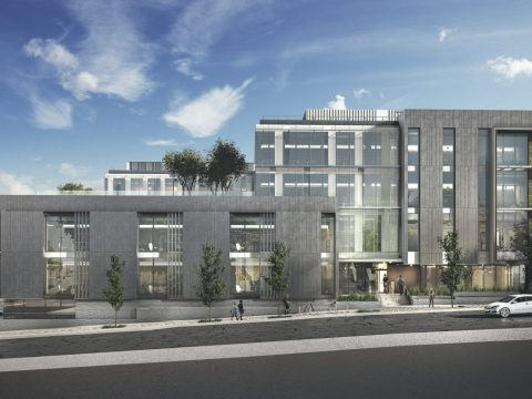 Rendering of the UCSF Nancy Friend Pritzker Psychiatry Building (Image/Courtesy ZGF Architects)