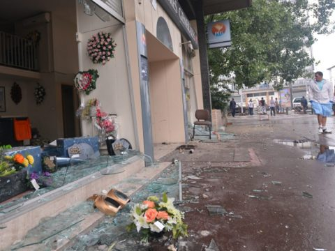 In the Paris suburb of Sarcelles, pro-Palestinian rioters broke shop windows and set fires on July 20, 2014. (Photo/JTA-Cnaan Liphshiz)