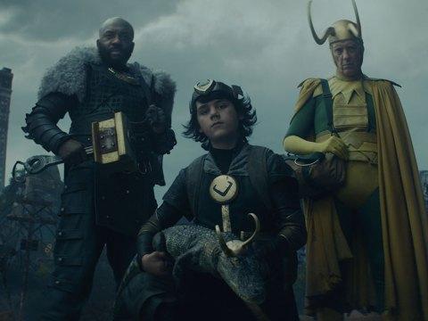 """Loki encounters his """"variants"""" in the fifth episode of """"Loki"""": Boastful Loki, Kid Loki, Alligator Loki and Classic Loki."""