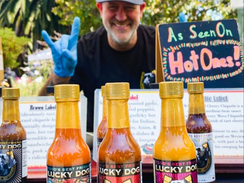 Scott Zalkind, owner of Lucky Dog Hot Sauce. (Photo/Kendra Chao)