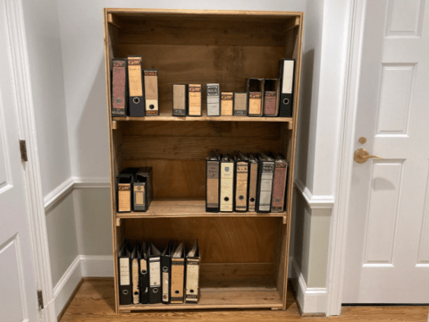 The Anne Frank Center, in Columbia, South Carolina, shows a recreation of the bookshelf behind which was a door to the secret annex where Anne Frank and her family hid from 1942 to Aug. 4, 1944, when they were discovered and sent to concentration camps. (Photo/RNS-Yonat Shimron)