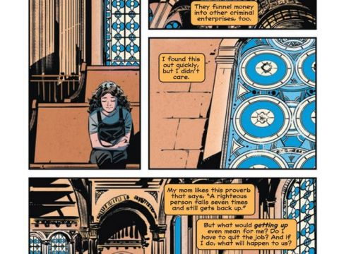 During a moment of personal crisis, Willow goes to the Remson Street Synagogue to reflect on her actions. Soon thereafter, she gets her powers. (Art by Manuel Preitano, colors by Gabby Metzler and letters by ALW's Troy Peteri)