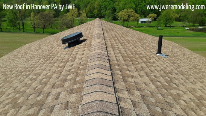 New Roof Installed by JWE Remodeling & Roofing in Hanover PA 17331