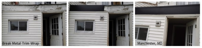 Metal-Wrap Exterior Trim: Before, During, After Photo Collage