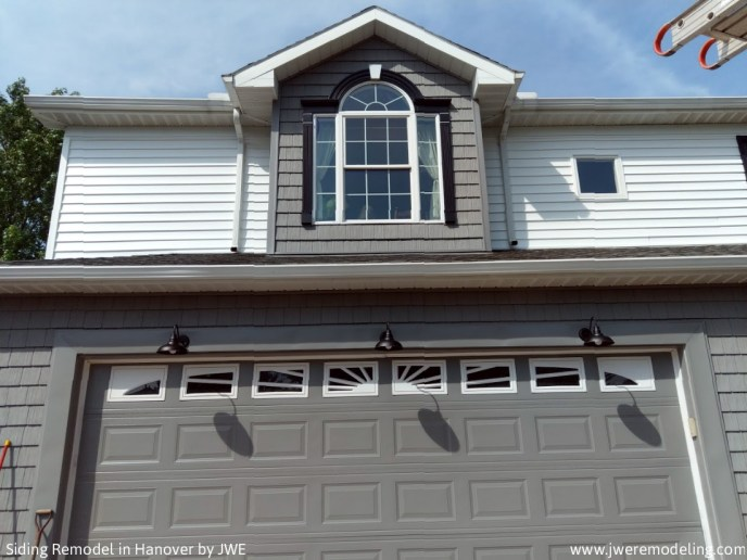 New Exterior Lighting Fixture and Custom Window Trim and Exterior Vinyl Siding Remodel in Hanover PA 17331