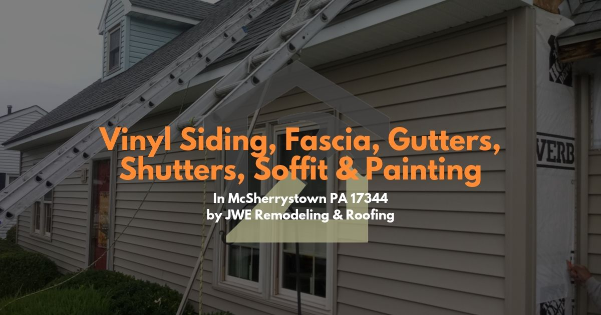 Exterior remodeling and siding installation service by JWE in McSherrystown PA 17344
