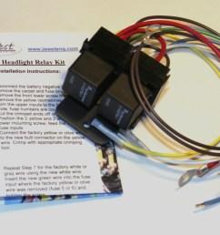 western headlight relay wiring diagram [ 1785 x 1143 Pixel ]