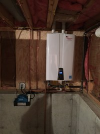 Wall Hung Instant water heater and 97% gas furnace install ...