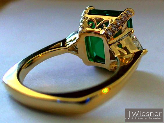 emerald engagement ring san diego