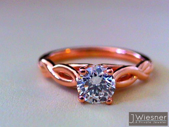 rose gold solitaire engagement ring san diego la jolla