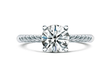 custom solitaire engagement ring in san diego