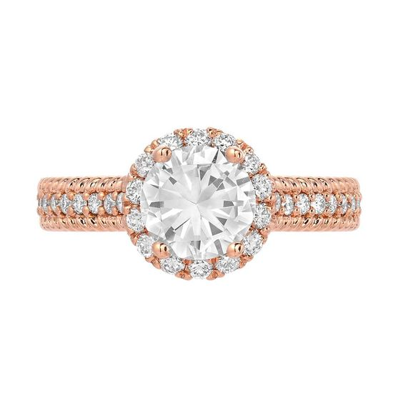 rose gold halo engagement ring san diego