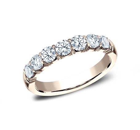 Crescent Shared Prong diamond wedding band by benchmark rings