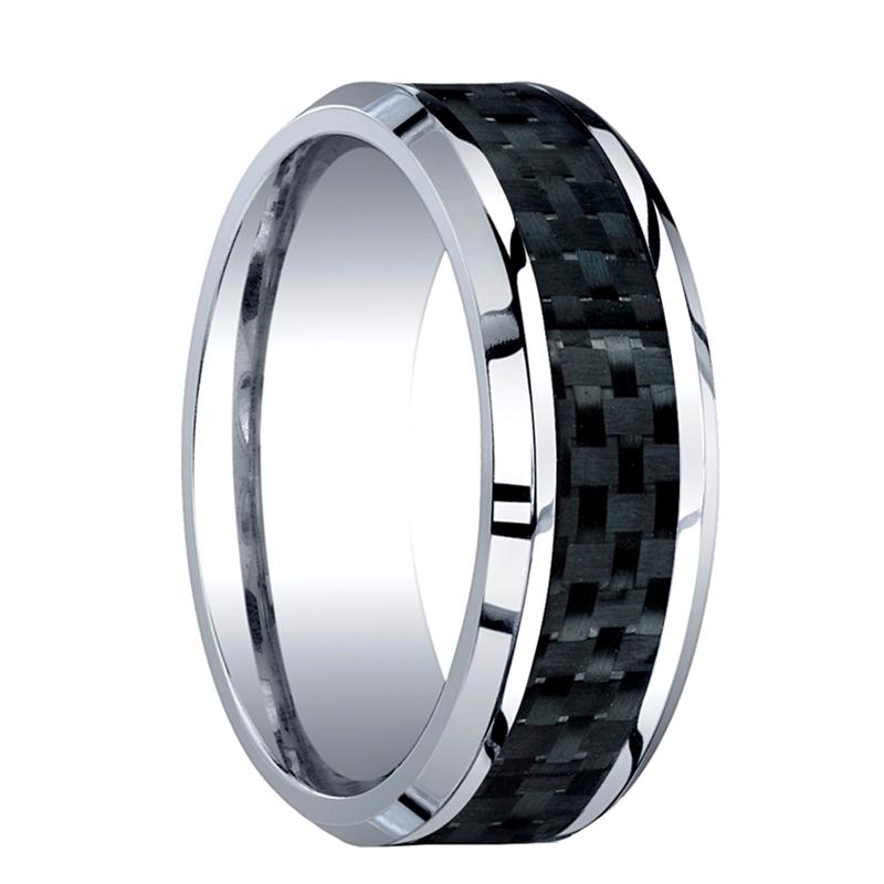 cobalt chrome mens wedding band benchmark rings