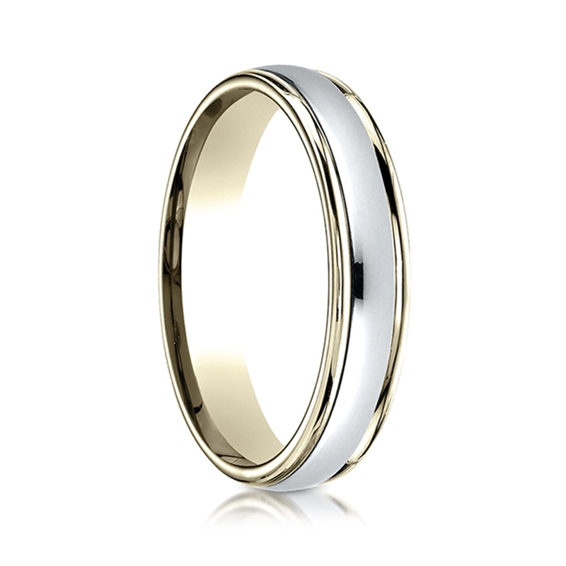 gold two toned womens wedding ring by benchmark rings