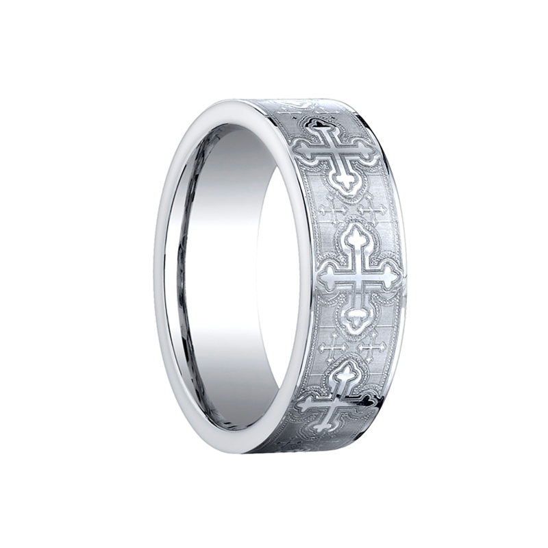 mens cobalt chrome ring by benchmark rings