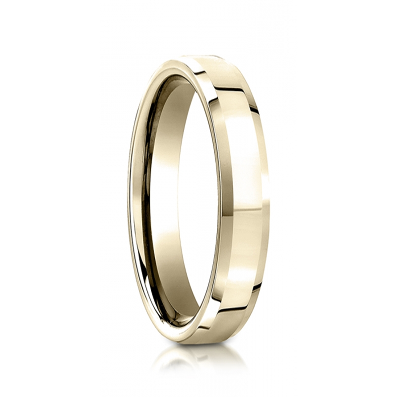 yellow gold wedding ring by benchmark rings