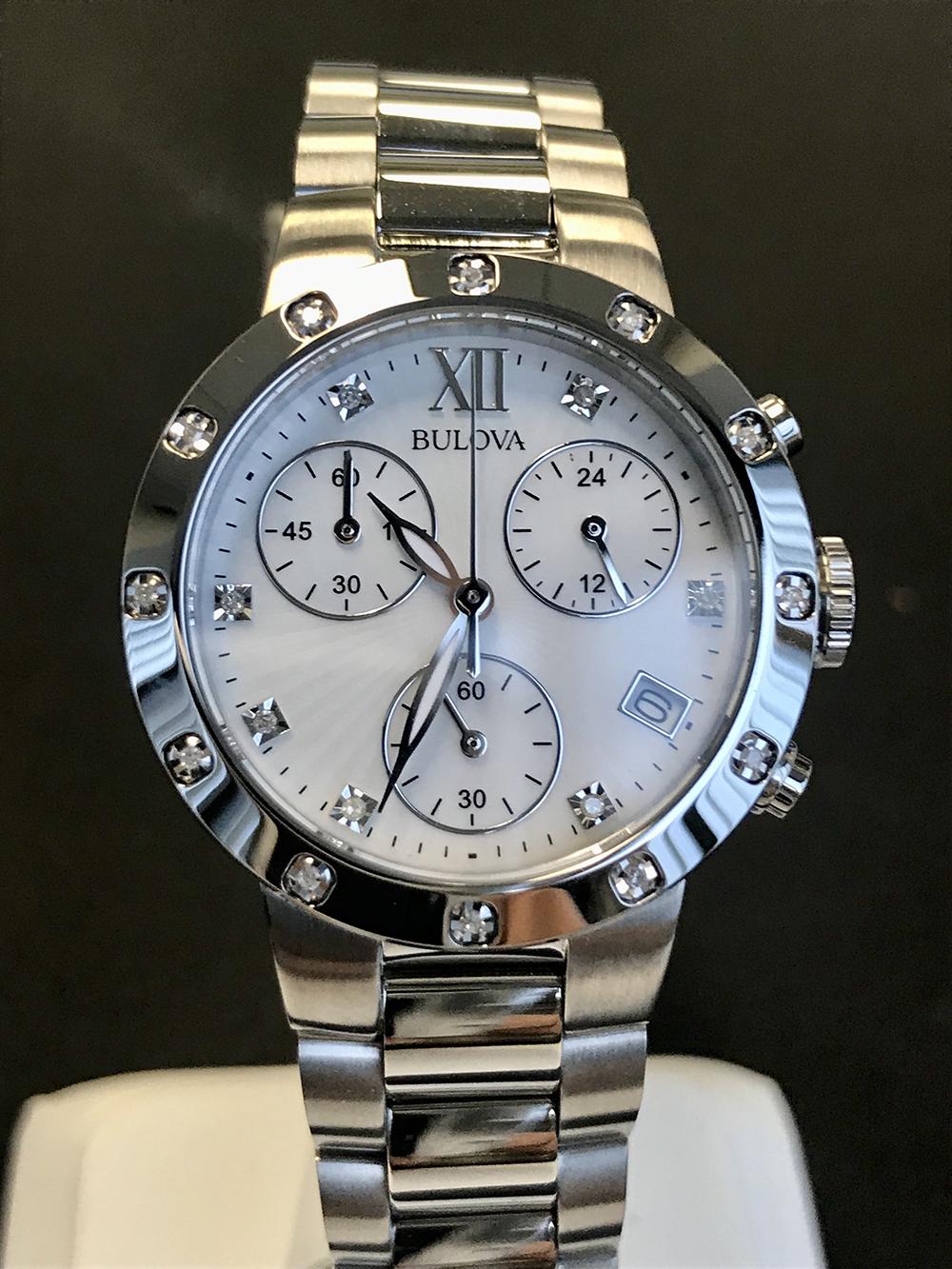 Ladies diamond Bulova watch
