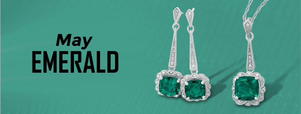 Emerald birthstone jewelry for sale