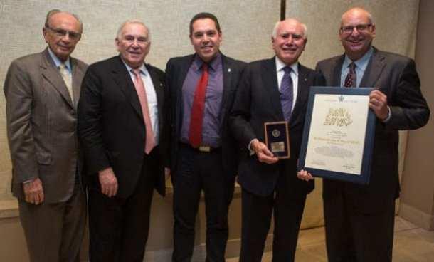 Sam Moss, Joseph Brender, Amos Elad (Vice President TAU), John Howard, David Dinte.