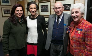 Judy Lowy, Governor Marie Bashir, Wesley and Sari Browne