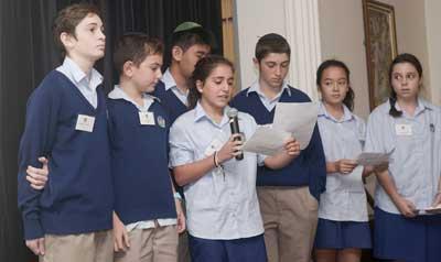 Masada students