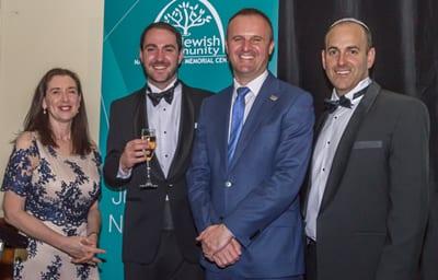 Yael Cass, Rabbi Alon Meltzer, Chief Minister Andrew Barr, David Reiner