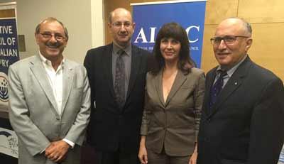 Robert Goot, Jeremy Jones, Dr Einat and Dr Colin Rubenstein