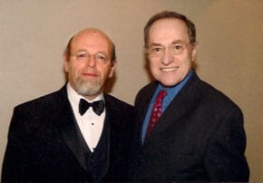 AMbassador Alan Baker with Alan Dershowitz