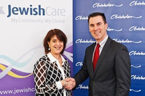 Maria Peters, CEO of Chisholm with Bill Appleby, CEO Jewish Care.