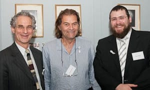 Rabbi Jeffrey Kamins, Brian Sherman and Rabbi Eli Feldman