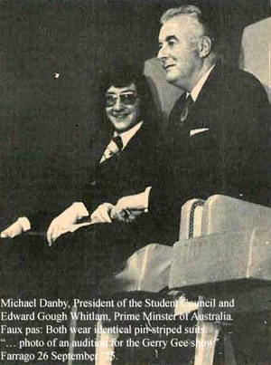 Michael Danby and Gough Whitlam - 1975