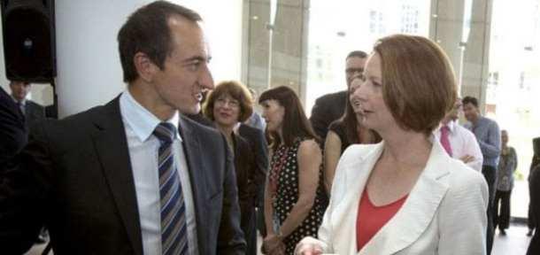 Dave Sharma with Prime Minister Julia Gillard