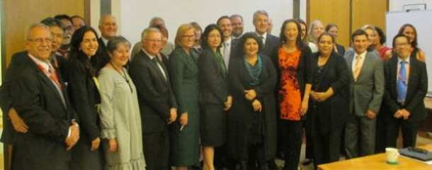 Pic includes: ony Pang (Chinese Australian Services), Dr Ramzi Barnouti (Arab Council of Australia), Peter Wertheim (Executive Council of Australian Jewry), the Hon Philip Ruddock MP, George Vellis (Australian Hellenic Council), Patrick Voon (Chinese Australian Forum), Kirstie Parker (Co-Chair, National Congress of First Peoples of Australia), Luke Song (Korean Society of Sydney)