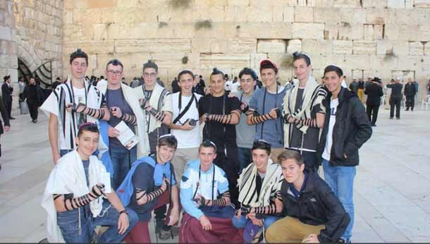 A very meaningful and moving experience for BJE boys, as many have never laid tefillin or visited the Kotel.