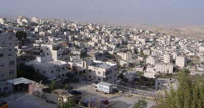 """The eastern Jerusalem neighborhood of Issawiya. Media references to """"East Jerusalem"""" with an uppercase """"E"""" imply that the area is a different municipality than the undivided Israeli capital of Jerusalem. Credit: Faigl.ladislav via Wikimedia Commons."""