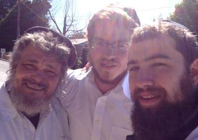 David Lake, Rabbi Zalman Griner and Rabbi Yossi Schapiro