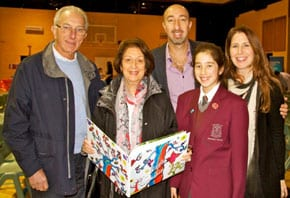 Amy Radomsky with her parents and grandparents