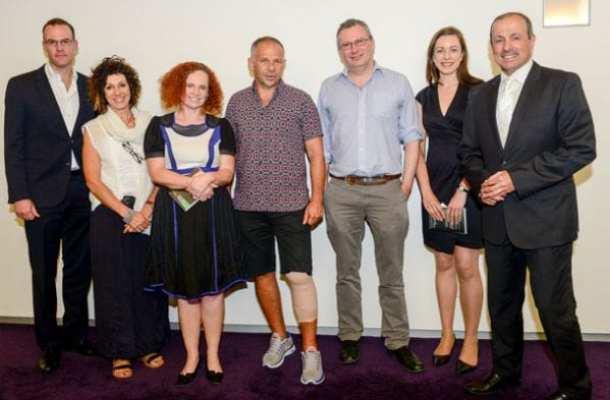 James Daggar-Nickson, Suzy Wolanski, Helen Pitt, Phil Wolanski, Andrew Clark, Leah Craven and Vic Alhadeff.     Photo: Henry Benjamin