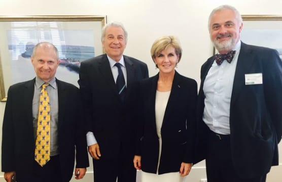 Ted Lapkin, Dr Danny Lamm, Foreign Minister Julie Bishop and Sam Tatarka