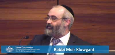 Rabbi Meir Kluwgant at the Royal Commission into Institutional Responses to Child Sexual Abuse