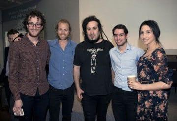 Josh Monester, Aaron Densham, Bram Presser, Yossi Reicher and Shifra Bendet