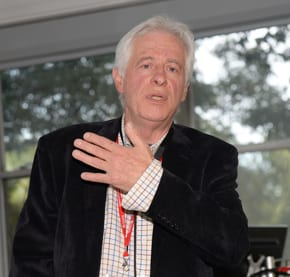 Peter Slezak presenting in 2013  photo: Henry Benjamin